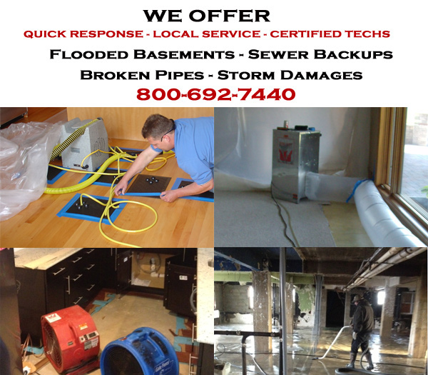 Harrietstown, New York water damage restoration service